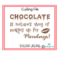 Chocolate quote SVG