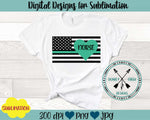 Nurse Flag Sublimation Design