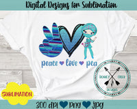 Peace Love PCA Sublimation Design