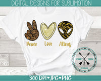 Peace Love Aliens Sublimation Design