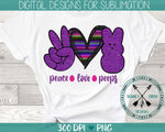 Peace Love Peeps Sublimation Design