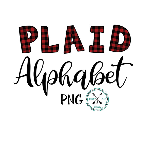 Plaid Alphabet PNG