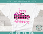 Valentine's Day SVG plaid truck
