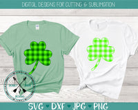 Plaid Shamrock SVG