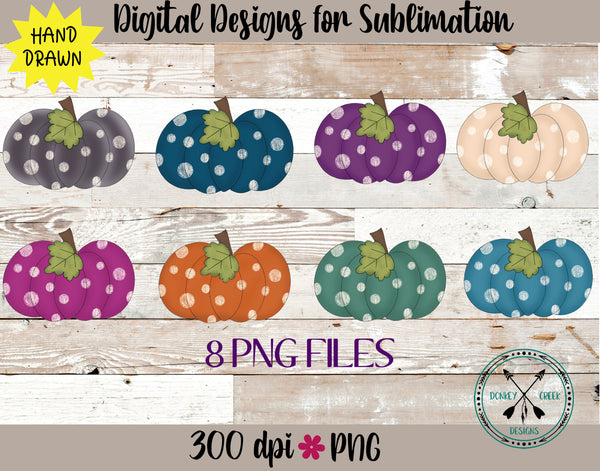 Hand Drawn Pumpkin PNG Bundle