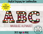 Serape Fabric Marquee Sublimation PNG Alphabet