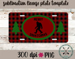 Merry Squatchmas License Plate Design Template