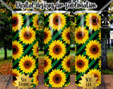 Sunflower 20 oz Skinny Tumbler Design Template PNG