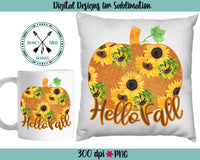 Sunflower Pumpkin Fall Sublimation download