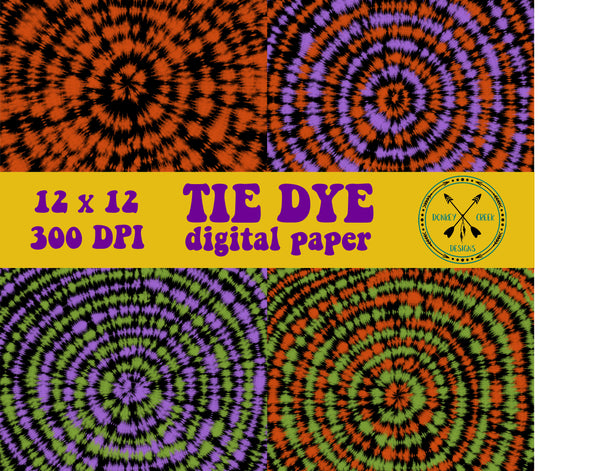 Halloween Tie Dye Digital Paper Vol. 2