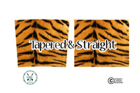 Faux Fur Tiger Pattern 20 oz Skinny Tumbler PNG Wrap