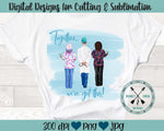 Healthcare Workers  Sublimation Design