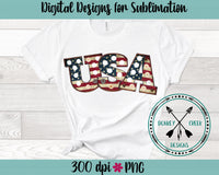USA Flag Marquee Sublimation PNG