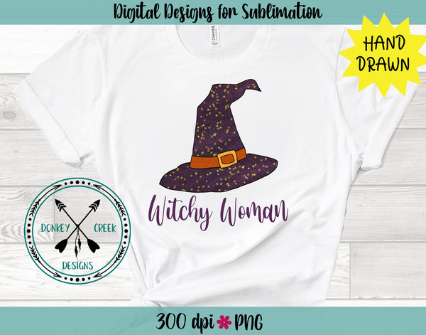 Witchy Woman Halloween Sublimation Design