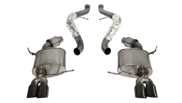 Corsa 08-12 BMW M3 Convertible E93 Black Sport Cat-Back Exhaust
