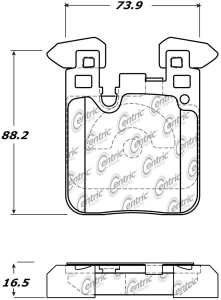 StopTech Street Performance Brake Pads BMW F22 M235i/F30 335i/F32 435i - Rear