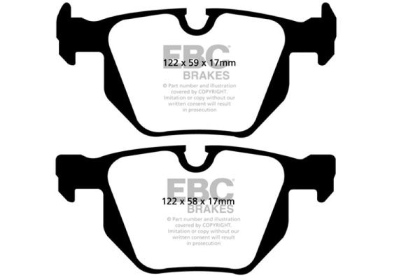 EBC 07-10 BMW X5 3.0 Redstuff Rear Brake Pads