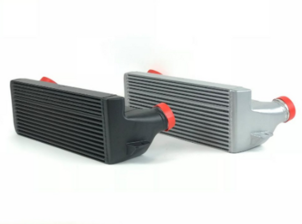 CSF 04-13 BMW 335i/xi (E90/E91/E92/E93) High Performance Stepped Core Bar/Plate Intercooler - Black