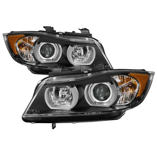 Spyder BMW E90 3-Series 06-08 4DR Headlights - AFS HID Only - Black PRO-YD-BMWE9005V2-AFSHID-BK