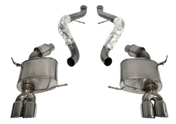 Corsa 08-12 BMW M3 Convertible E93 Polished Sport Cat-Back Exhaust
