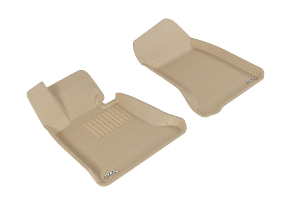 3D MAXpider 2004-2010 BMW 5 Series E60 Kagu 1st Row Floormat - Tan