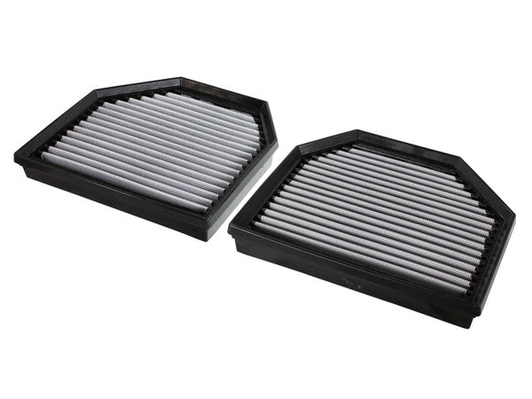aFe MagnumFLOW OEM Replacement Air Filter PRO Dry S 2015 BMW M3/M4 (F80/F82) 3.0L S55 (tt) Qty. 2