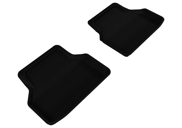3D MAXpider 2004-2010 BMW 5 Series E60 Kagu 2nd Row Floormats - Black