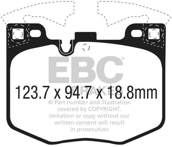 EBC 2017+ BMW 530 2.0L Turbo (G30) Ultimax2 Front Brake Pads