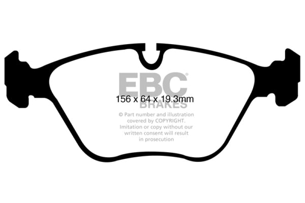 EBC 10-14 BMW X5 4.4 Twin Turbo (50) Yellowstuff Front Brake Pads