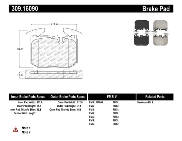 StopTech Performance Brake Pads