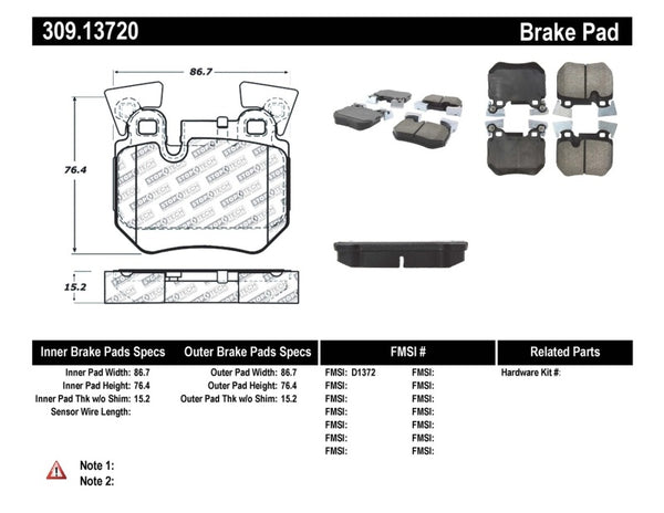 StopTech Performance 08-09 BMW 128i/135i Coupe Rear Brake Pads