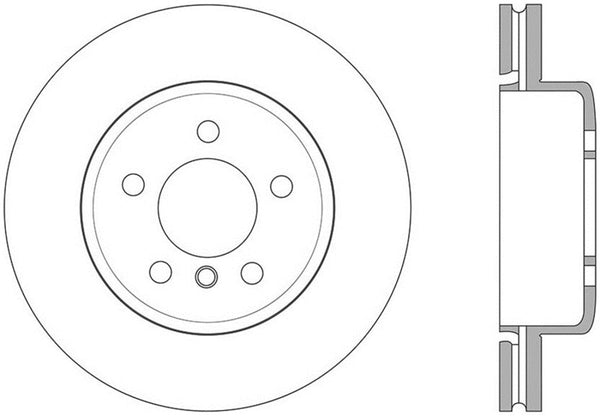 StopTech Sport 14-15 BMW 435i Rear Left Slotted Brake Rotor