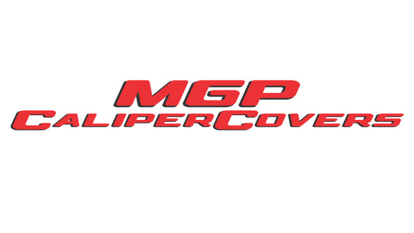 MGP 4 Caliper Covers Engraved Front & Rear MGP Red finish silver ch