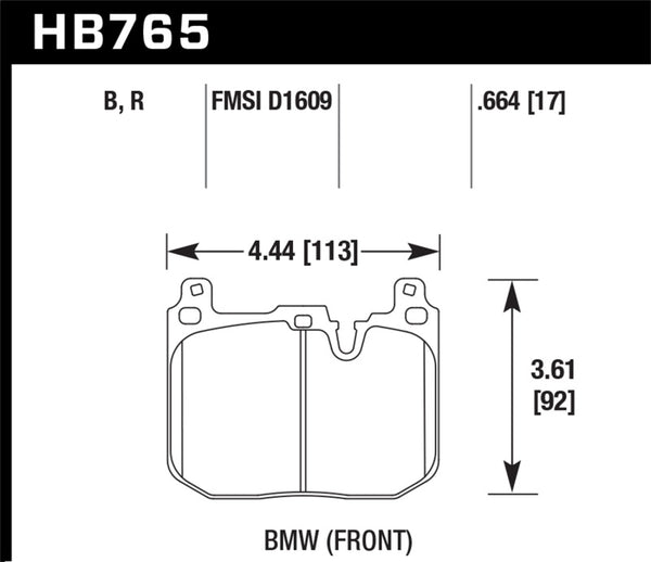 Hawk 2012-2015 BMW 228i DTC-60 Race Front Brake Pads