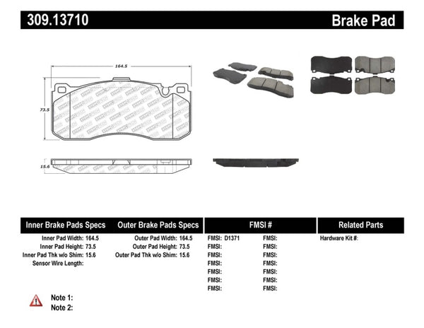 StopTech Performance 08-09 BMW 128i/135i Coupe Front Brake Pads