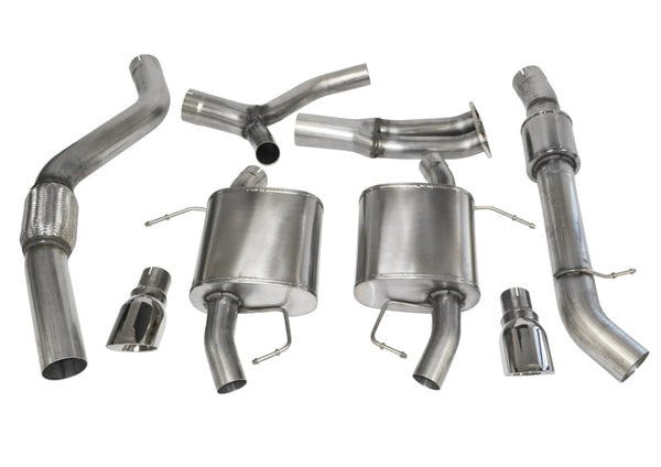 Corsa 07-12 BMW 335i Touring E91 Polished Sport Cat-Back Exhaust