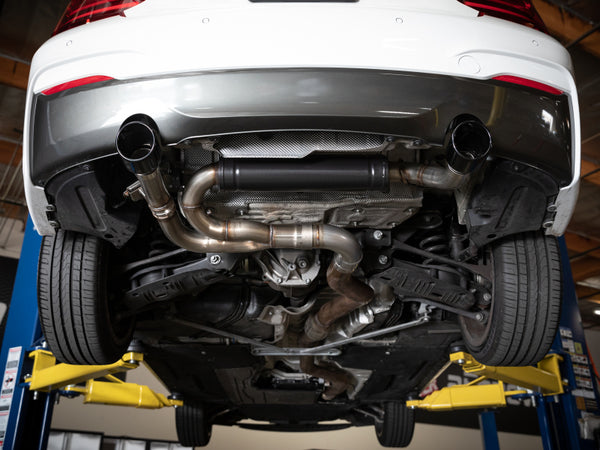 aFe MACHForce XP 3in to 2.5in 304 SS Axle-Back Exhaust w/ Polished Tips 14-16 BMW M235i