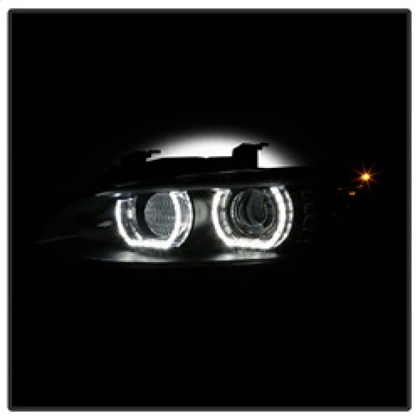 Spyder 08-10 BMW F92 3 Series Projector Headlights - LED DRL - Black (PRO-YD-BMWE9208-DRL-BK)
