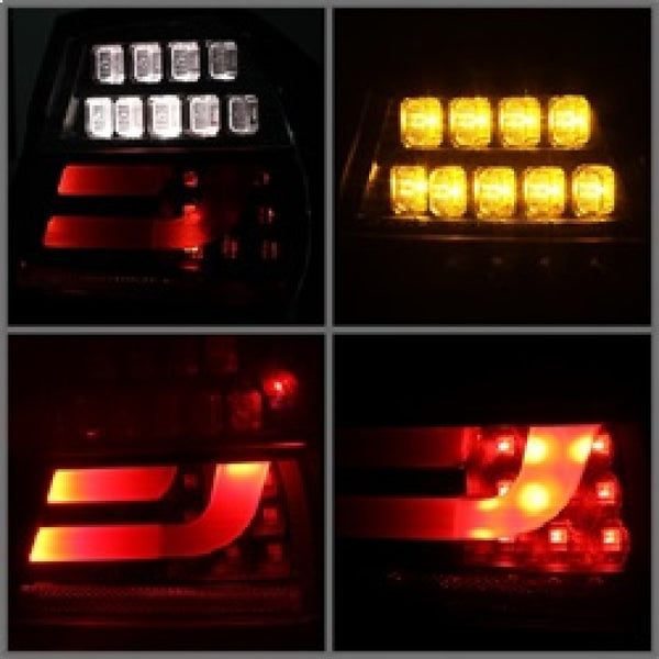 Spyder BMW E90 3-Series 06-08 4Dr LED Indicator LED Tail Lights Blk ALT-YD-BE9006-LBLED-G2-BK