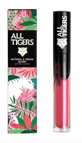 All Tigers - Natural & vegan Gloss PINK 601 'SILENCE THE CRITICS'