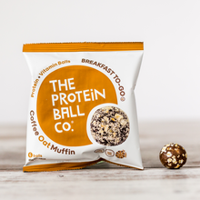 Load image into Gallery viewer, Breakfast Protein Ball Coffee Oat Muffin Vegan 45g - 6 Balls