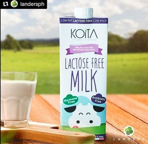 Koita Lactose Free Low Fat Cow Milk PACK OF 12 x 1L