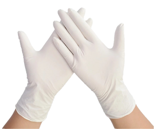 Latex Examination Gloves - Box of 100 Pcs