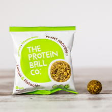 Load image into Gallery viewer, Lemon & Pistachio Vegan Protein Balls 45g - 6 Balls