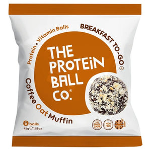 Breakfast Protein Ball Coffee Oat Muffin Vegan 45g - 6 Balls