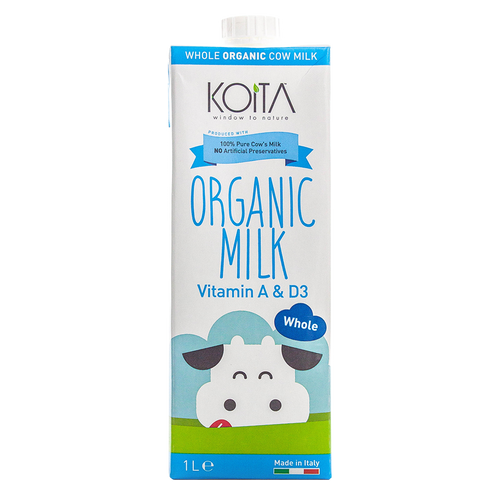 Koita Organic Whole Fat Milk 1L