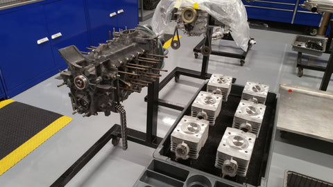 Porsche Engine being built