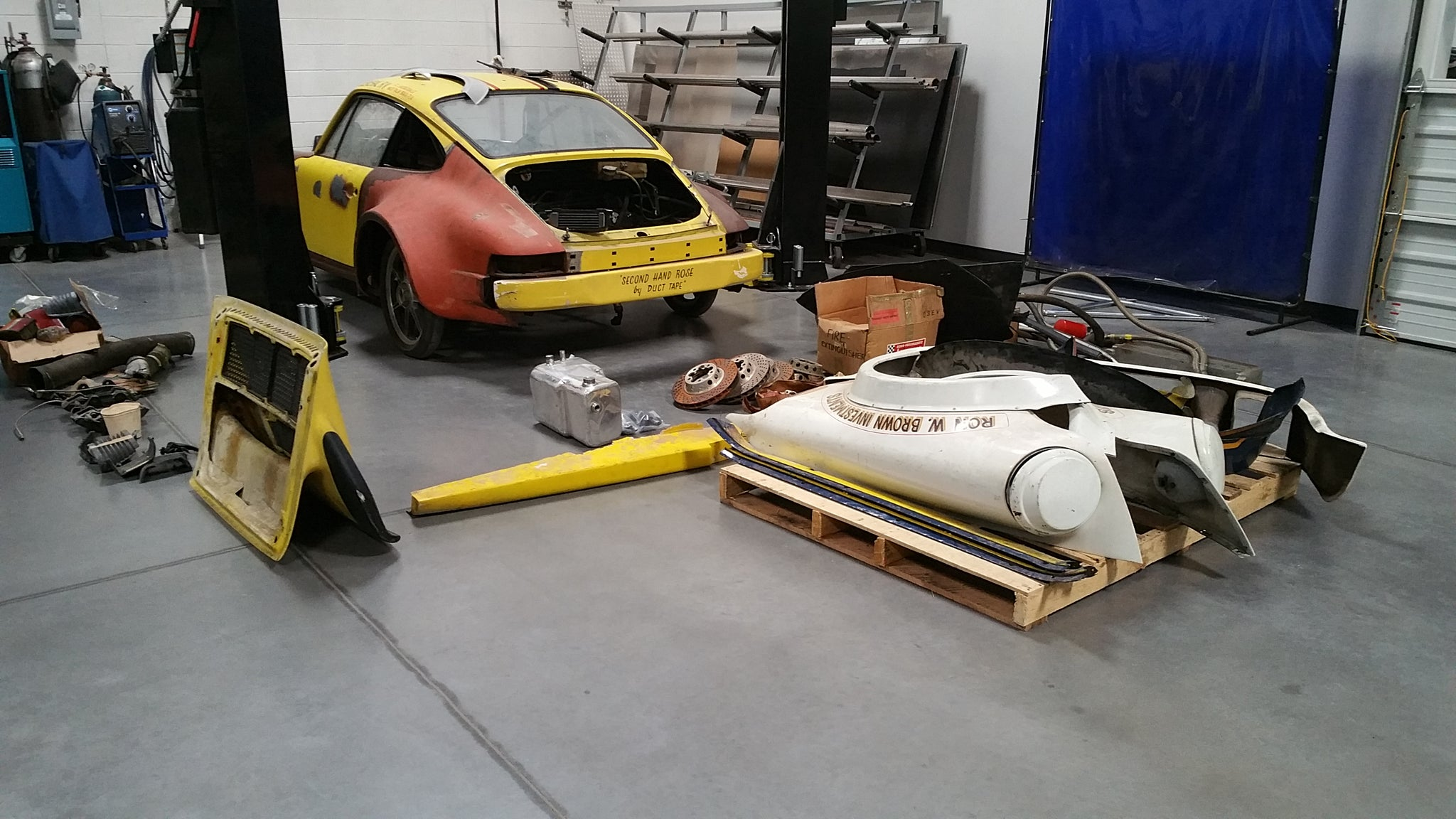 Porsche 934 restoration Starting point
