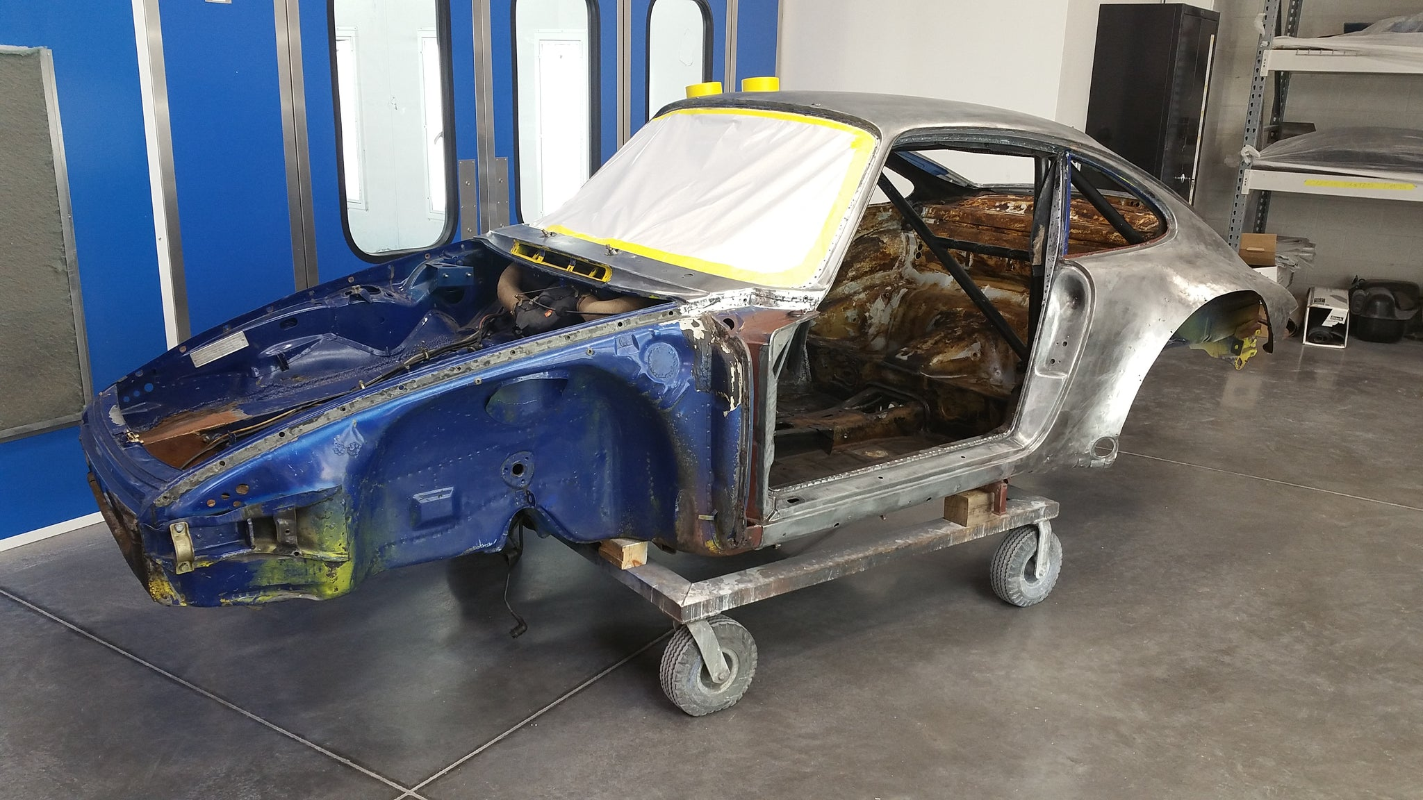Porsche 934 restoration paint stripped