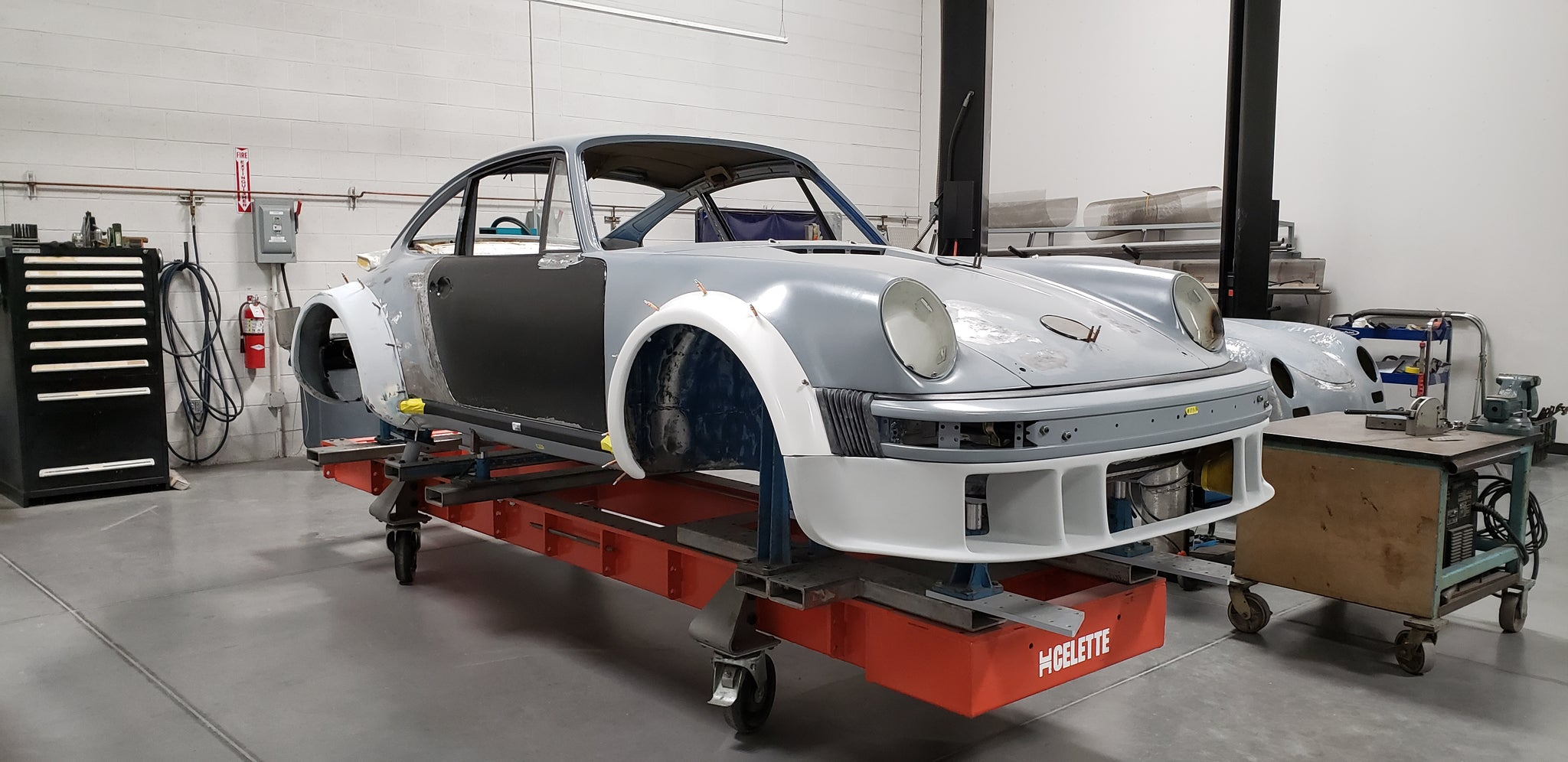 Porsche 934 restoration side view
